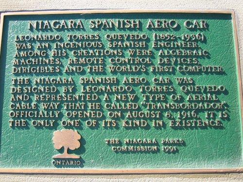 Placa conmemorativa en Niágara