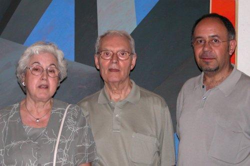 El autor con Diego y su esposa Teresa