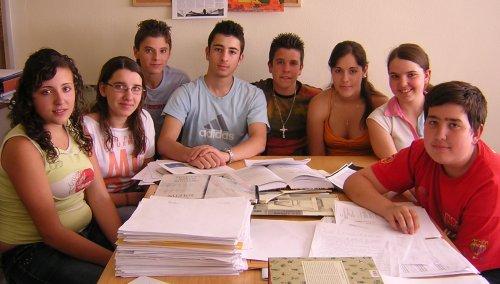 Alumnado responsable del estudio etnobotánico