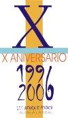 Logo del X aniversario del IES Antonio de Mendoza